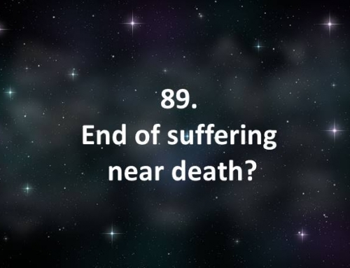 89. End of suffering near death?